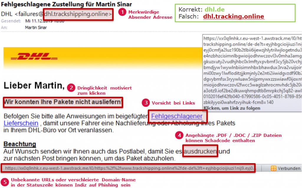 Phishing-Beispiel