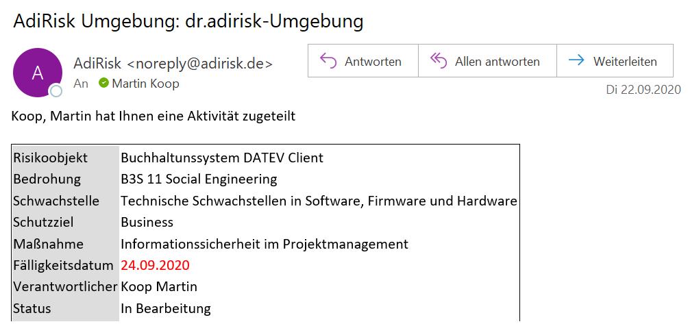 E-Mail-Benachrichtigung