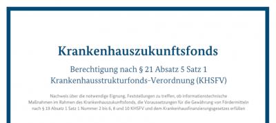 Nachweis zur Berechtigung nach § 21 Abs. 5 Satz 1 KHSFV