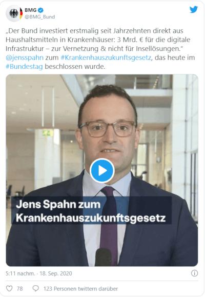 Jans Spahn zum KHZG